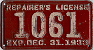 1933 Repairer's License