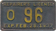 1937 Repairer's License